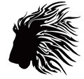 Black Tribal Lion Royalty Free Stock Image