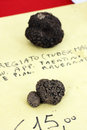 Black truffle some exposition for business Royalty Free Stock Image