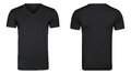 Black tshirt, clothes isolated white background