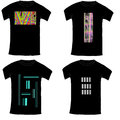 Black Tshirt collection with abstract illustration on white Royalty Free Stock Photo
