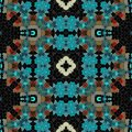 Black Turquoise Red White Orna...