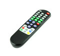 Black TV remote control on white Royalty Free Stock Photography