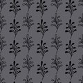 Black twig seamless pattern,forest motif Royalty Free Stock Photo