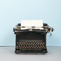 Black typewriter Stock Photos