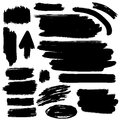 Black vector brush strokes collection Royalty Free Stock Image