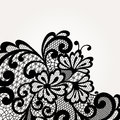 Black vector lace corner ornament Stock Photo