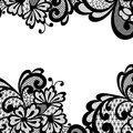 Black vector lace corner ornament Royalty Free Stock Photos