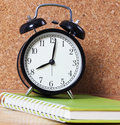 Black Vintage Alarm a Clock Stock Image