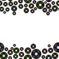 Black Vinyl Records Pattern Royalty Free Stock Photo