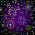 Black and violet effortless christmas pattern Royalty Free Stock Photo