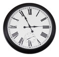 Black wall vintage clock isolated Stock Images