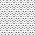 Black Wavy Line Seamless Pattern Royalty Free Stock Photo