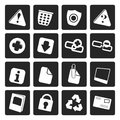 Black Web site and computer Icons Royalty Free Stock Photo