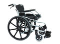 Black wheel chair on white background Royalty Free Stock Photo