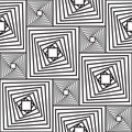 Black-and-white abstract background with squares Stock Photography