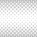 Black and white curved octagon pattern background