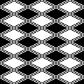 Black and white abstract pattern with rhombus