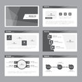 Black white Abstract presentation template Infographic elements flat design set for brochure flyer leaflet marketing Royalty Free Stock Photo