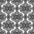 Black and white abstract seamless pattern with elements on background Royalty Free Stock Photo