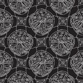 Black and white abstract seamless pattern lace Stock Images