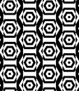 Black and white alternating rectangles cut through hexagons vert