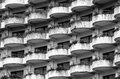 Black and white of balconies for background Stock Photos
