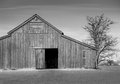 Black and white barn Royalty Free Stock Photo