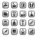Black an white bathroom and Personal Care icons