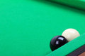 Black and white billiard balls Royalty Free Stock Images