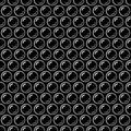 Black and white bubble wrap packing material seamless pattern, vector Royalty Free Stock Photo