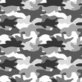 Black and white camouflage. Masking camo. Classic clothing print. Vector seamless pattern.