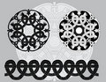 Black and white Celtic patterns Royalty Free Stock Images