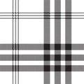 Black white check pixel square fabric texture seamless pattern Royalty Free Stock Photo