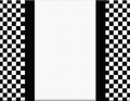 Black and White Checkered Frame with Ribbon Background Royalty Free Stock Photo