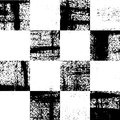 Black and white checkered grunge pattern Royalty Free Stock Photo