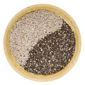 Black and white chia seeds Royalty Free Stock Photo