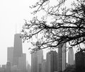 Black and White Chicago Royalty Free Stock Photo