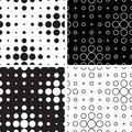 Black and white circles Stock Photography