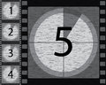 Black and white countdown with noisy background design Stock Images