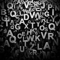 Black and white d letters background Stock Images