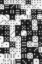 Black and white dice background Stock Photos