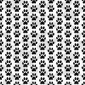 Black and White Dog Paw Prints Tile Pattern Repeat Background Royalty Free Stock Photo