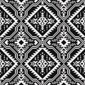 Black and white Ethnic geometric seamless pattern