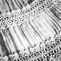 Black and white fabric with the assembly lace Stock Photos
