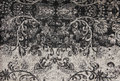 Black and white filigree tapestry pattern print rich luxurious for background Royalty Free Stock Images