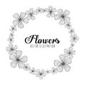 Black and white floral design decorative vector illustration Royalty Free Stock Image