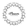 Black and white floral design decorative vector illustration Stock Image