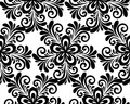 Black and white floral seamless pattern many similarities to the authors profile Royalty Free Stock Image