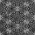 Black and white flower pattern Royalty Free Stock Image