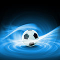 Black white football soccer ball colour illustration Stock Photography